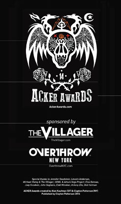 acker awards sponsor